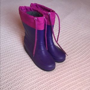 Other - Girls Purple and Pink Snow/Rain Boot Size 3/4